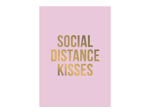 Card 'Social Distance Kisses'