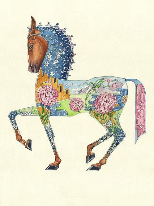 """Wenskaart """"Horse"""""""