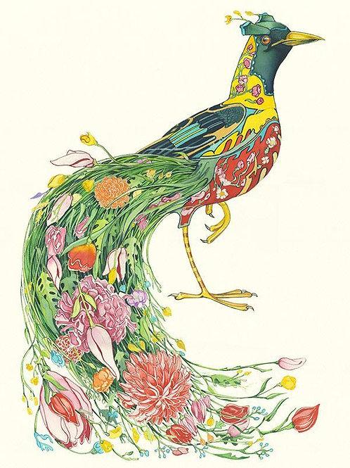 "Wenskaart ""Bird of Paradise"""
