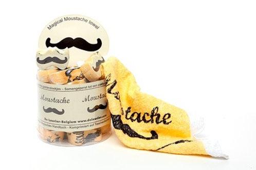 "Compact handdoekje ""Moustache"""