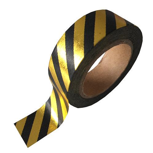 Washi Tape Gold Foil Black