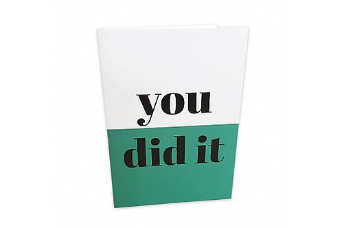 Greeting Card 'You did it'