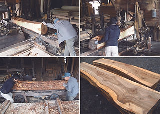 木材加工をする製材所