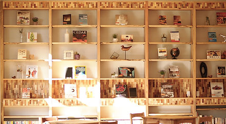 街の木の本棚  メタセコイア、ヒマラヤスギ、エノキ、75樹種の木タイル