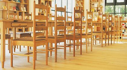 街の⽊の椅⼦(シェーカー型)  シラカシ、アカガシ、アラカシ