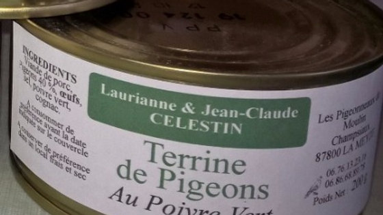 Terrine de pigeons au poivre vert - 200 g
