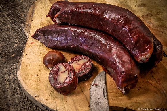 Boudins aux châtaignes /500g 17€50/kg