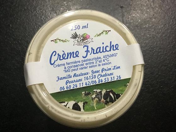 Crème fraîche fermière pasteurisée
