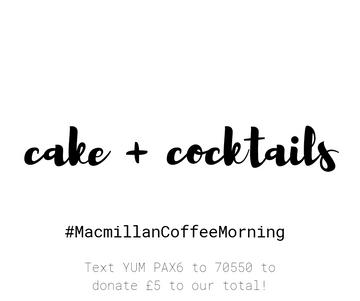 Cake + Cocktails!
