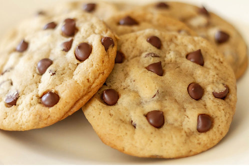 1 Dozen Vegan Friendly Chocolate Chip Cookies