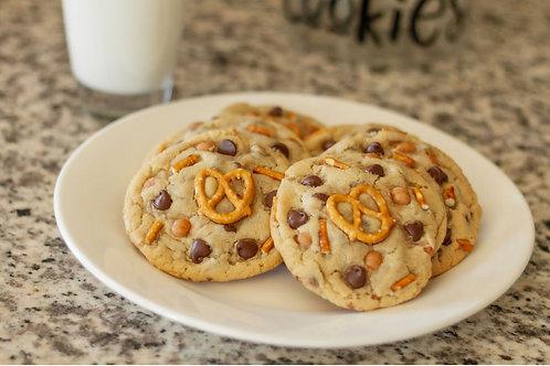 1 dozen Chocolate Chip Caramel Pretzel Cookies