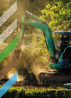 Pelle mécanique creusant le sol