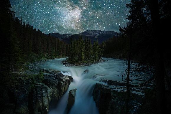 Sunwapta Under the Stars