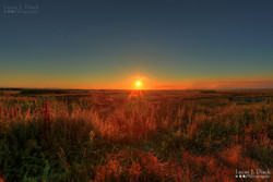 Sunset at Richmond Dyke