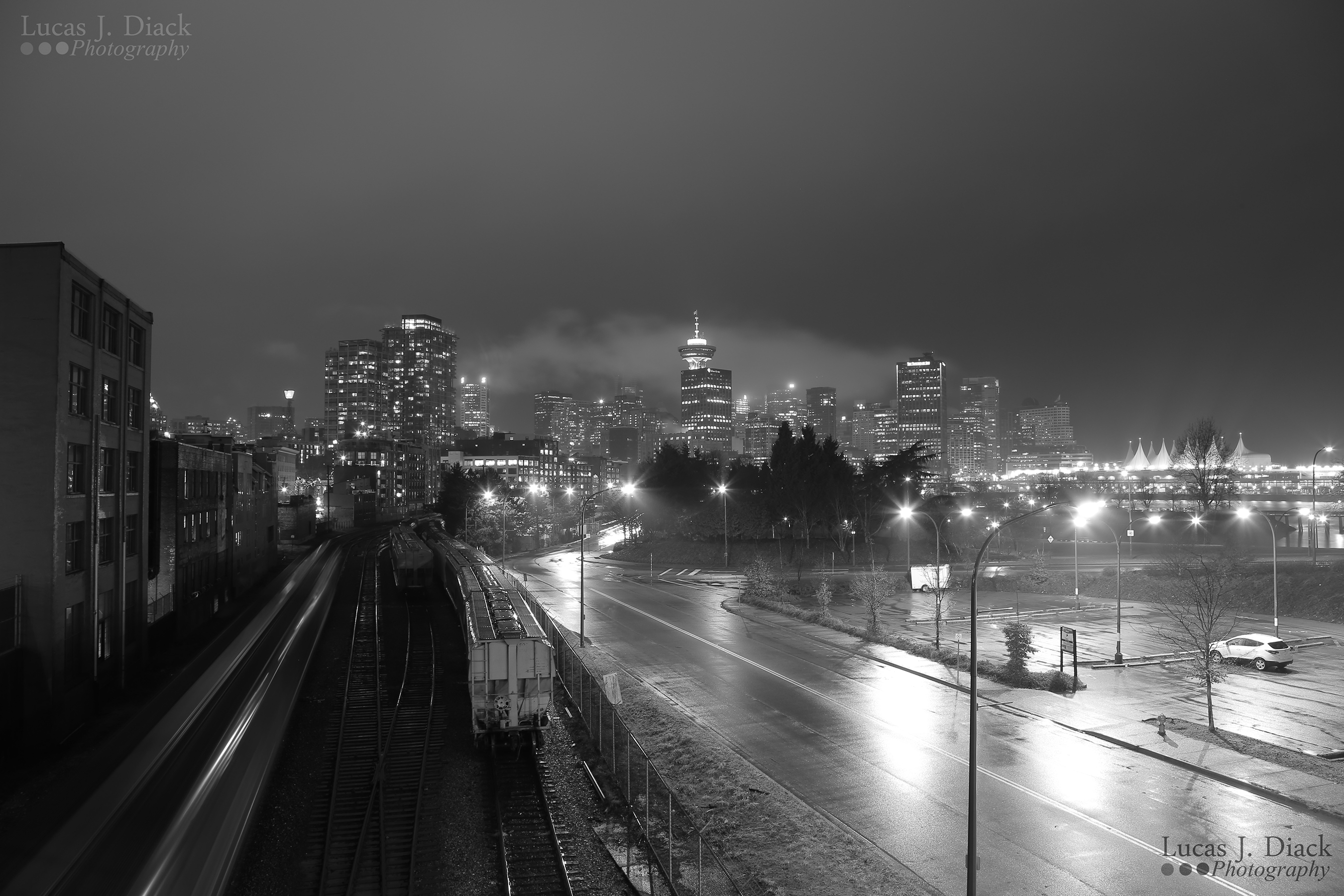 Rainy Night in Vancouver
