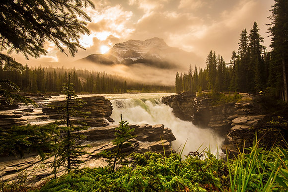Morning Rise - Athabasca Falls