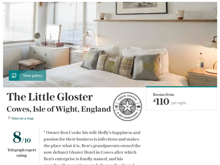 "The Telegraph - February 2018: ""Best hotels on the Isle of Wight"""