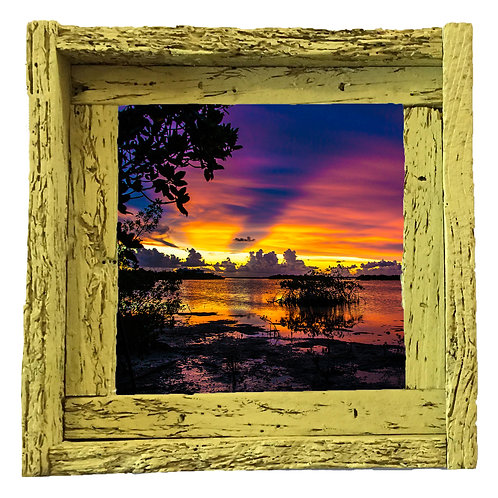 Contents key, small frame, Florida keys , Small frame size 6x6