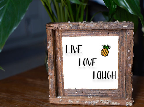 Live, love, laugh small frame