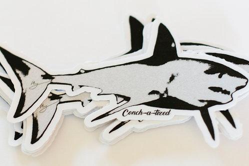 Waterproof sticker -Mako shark-PACK OF 4