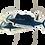 Thumbnail: Waterproof sticker - Sail fish, Hammer heads -PACK OF 4