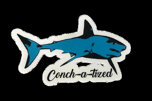 Waterproof sticker - Mako shark teal -PACK OF 4