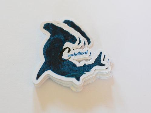 Waterproof sticker - LOGO BLUE- PACK OF 4