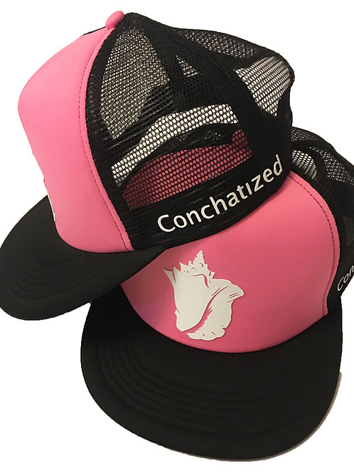 Conch shell-Trucker hat pink