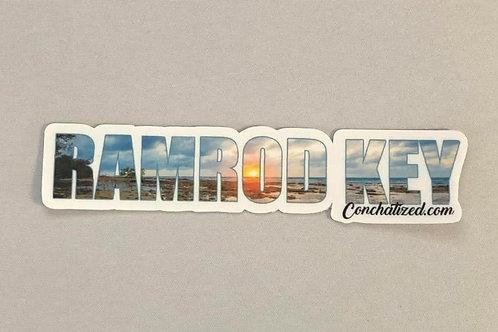 Waterproof sticker -Ramrod Key-PACK OF 4