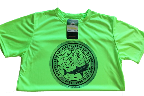 Kid's- Save our oceans- Fishing performance short sleeve
