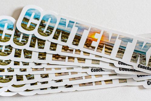 Waterproof sticker - Content- BLUE- PACK OF 4