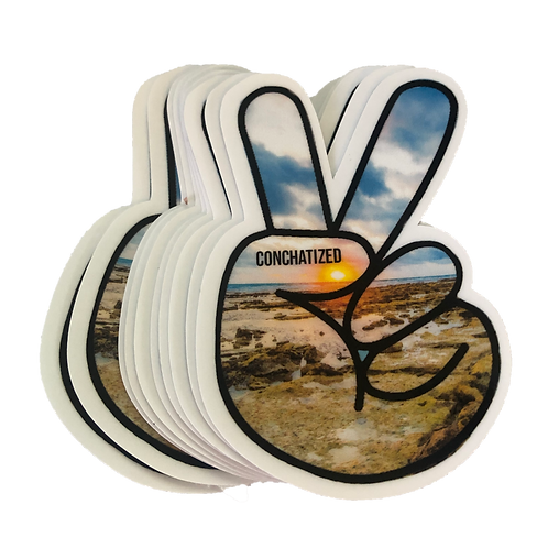 Waterproof sticker - Peace sign -PACK OF 4