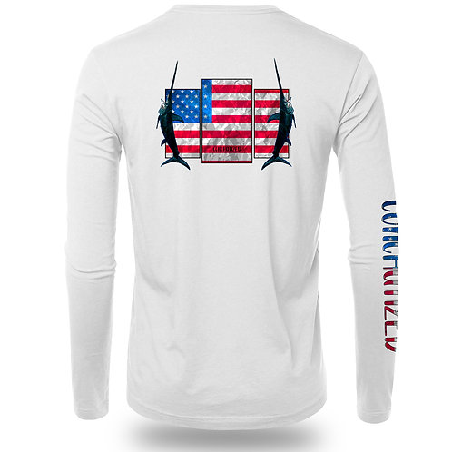 Patriotic, fishing shirt, fishing performance, 4th of July