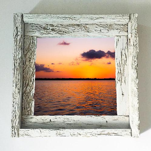 Vibrant sunset, Big pine key, small frame, Florida keys , Small frame size 6x6