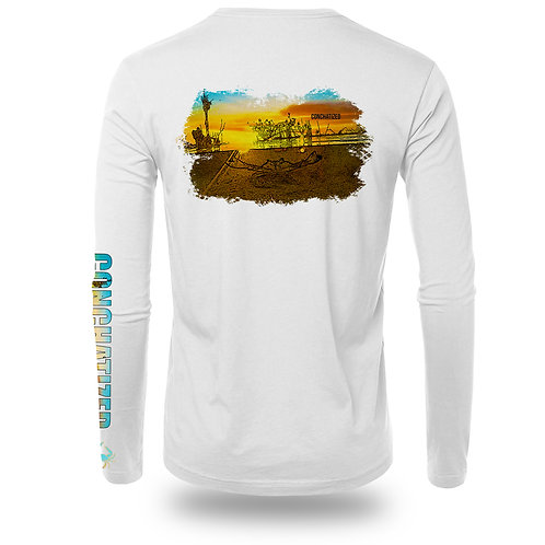 Blue Crab- Long Sleeve 100% Polyester
