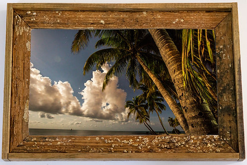 Recycled trap wood frame, Bahia honda, Florida keys 12x15