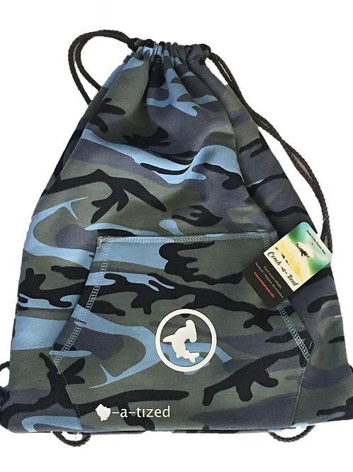CAMO - Sweatshirt material bag with front pocket