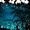 Thumbnail: Women's long sleeve - Vneck - Palm trees night