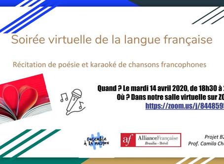 Soirée virtuelle de la langue française