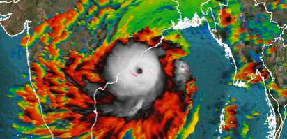 El ciclón Fani llega a Odisha en la India