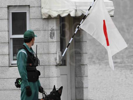 La seguridad en la toma del Nuevo emperador Japones