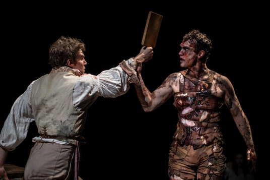 Production Photo of Frankenstein's Corset