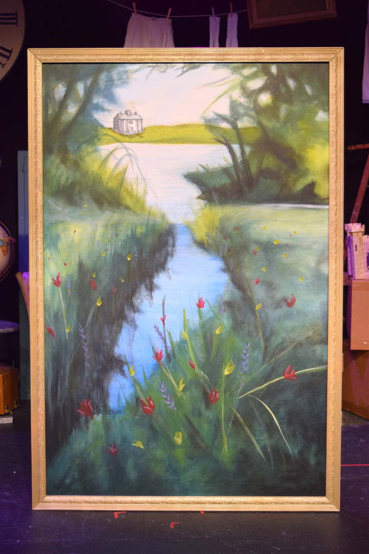 Landscape Painting and Frame Construction for Alice in Wonderland