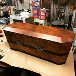 Burl Wood Coffin for MACBETH