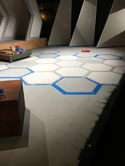 Painted Floor for ARC TRIALS process