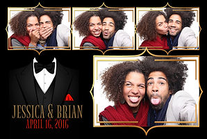 Postcard wedding photo booth