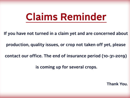 To our Crop Producers