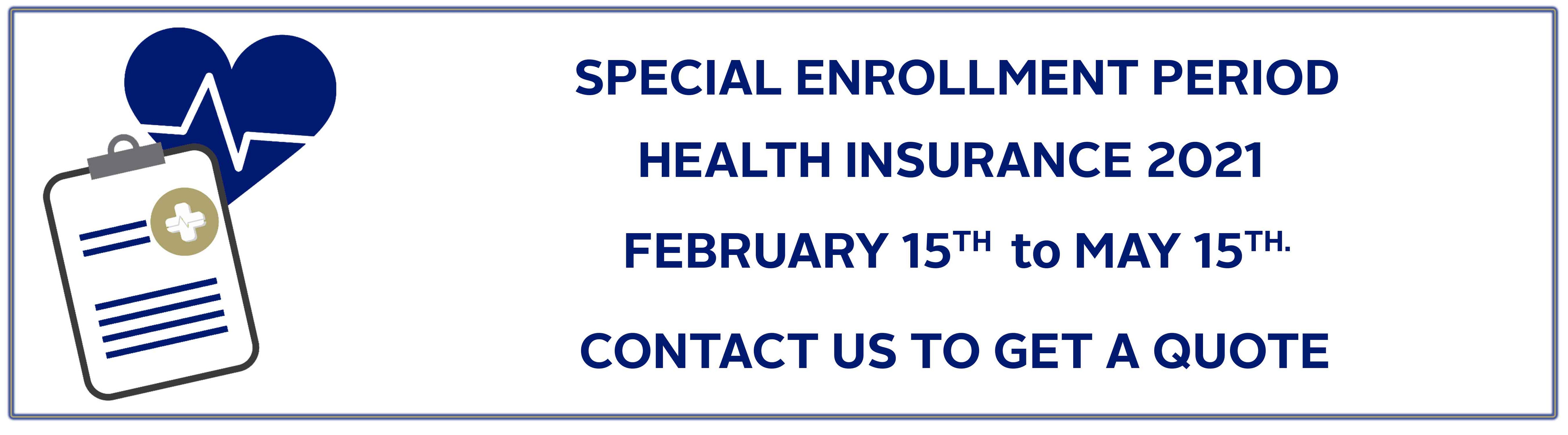 Special Open Enrollement Health Insurance
