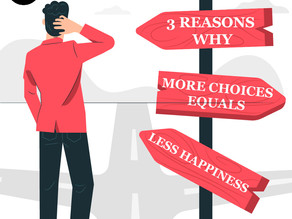 3 Reasons why more choices equals less happiness | The paradox of choice | Barry Schwartz