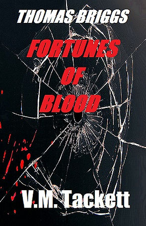 "Book cover, ""Fortunes of Blood"""